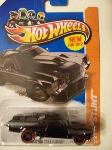 Hot Wheels 2013 Stunt 49/247 Custom '71 El Camino ~ Black - 1