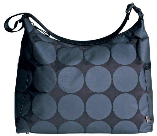 OiOi Baby Dot Hobo Diaper Bag, Char/Lime