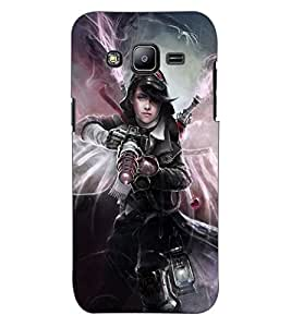 ColourCraft Ghost Rider Girl Design Back Case Cover for SAMSUNG GALAXY J2 J200G