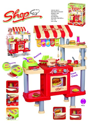 Pretend Play Fast Food Restaurant Pretend Play Kitchen Shop Cooking Store Wit...