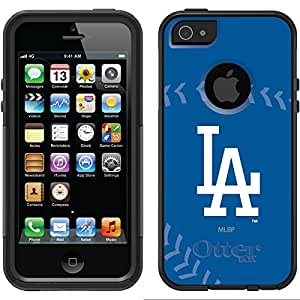 Coveroo LA Dodgers Stitch Design Phone Case for iPhone 5/5s - Retail Packaging - Black/Black