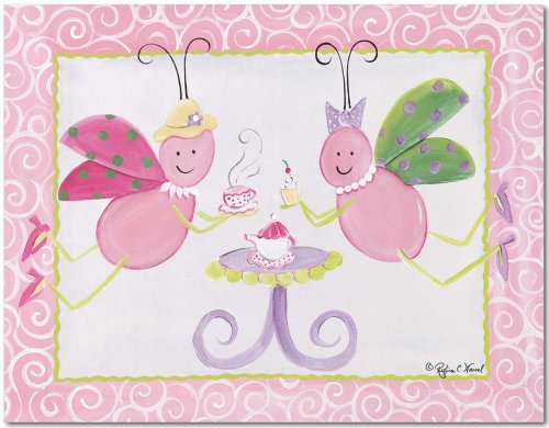 "Doodlefish Gallery-Wrapped 20""X16"" Wall Art, Tea Party"