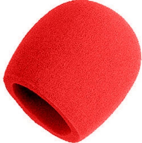 Shure A58Ws-Red Red Foam Windscreen For All Shure Ball Type Microphones