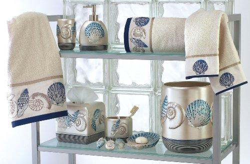 Avanti bath accessories hampton shells soap and lotion - Sea themed bathroom decor ...