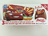 1 x Zaini Disney Cars chocolate egg - 3 per box- Made in ITALY