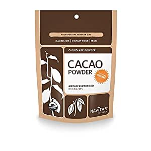 Navitas Naturals Organic Raw Cacao Powder, 8-Ounce Pouches (Pack of 2)