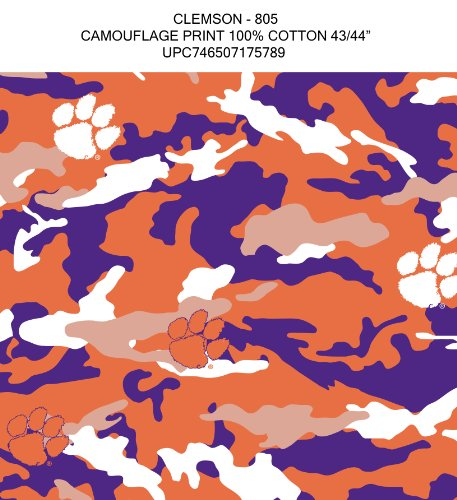 CLEMSON CAMOUFLAGE COTTON FABRIC-CLEMSON TIGERS CAMOUFLAGE COTTON FABRIC BY SYKEL at Amazon.com