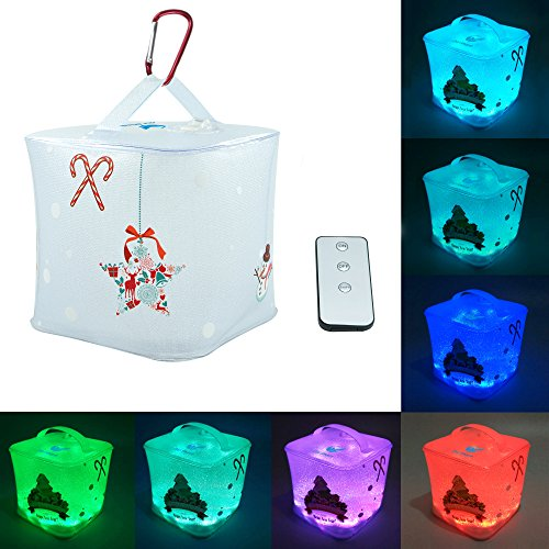OldShark® Christmas Pattern Inflatable Solar Powered Lantern with Color Changing Light Solar Charge with Remote Controller (Shark Remote Control compare prices)