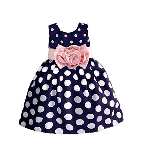 VLUNT - Vestido - para niña, color azul, tamaño 3-4Años