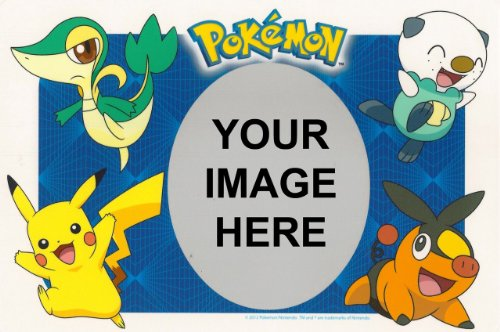 1/4 Sheet ~ Pokemon Photo Frame Birthday ~ Edible Image Cake/Cupcake Topper!!!