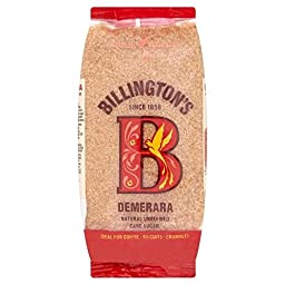 Billington\'s Natural Demerara Unrefined Cane Sugar (500g) - Pack of 2