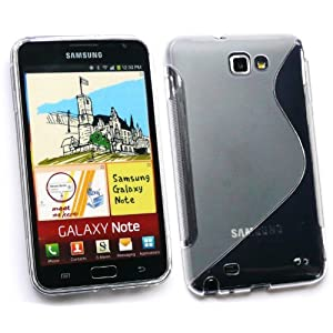 FLASH SUPERSTORE SAMSUNG GALAXY NOTE WAVE PATTERN GEL SKIN COVER/CASE CLEAR