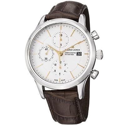 Maurice Lacroix Men's LC6058-SS001131 Les Classiques Silver Chronograph Dial Watch