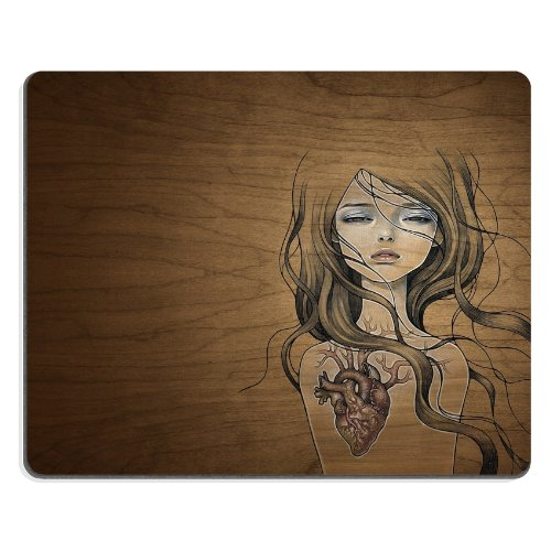 Pattern Heart Girl Mouse Pads Customized Made To Order Support Ready 9 7/8 Inch (250Mm) X 7 7/8 Inch (200Mm) X 1/16 Inch (2Mm) High Quality Eco Friendly Cloth With Neoprene Rubber Liil Mouse Pad Desktop Mousepad Laptop Mousepads Comfortable Computer Mouse front-492471