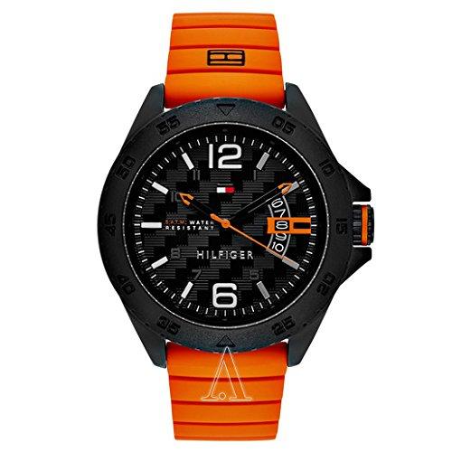 Tommy-Hilfiger-Mens-1791205-Casual-Sport-Analog-Display-Quartz-Orange-Watch