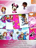 Disney Multi -Character Pack 10 Girls Panties 100% Cotton! Size 6