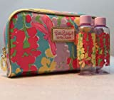 Lilly Pulitzer Snapdragon Print Cosmetic Bag with 2 Travel Bottles Estee Lauder