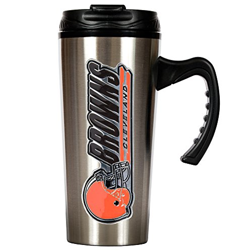 Nfl Cleveland Browns 16-Ounce Stainless Steel Travel Mug