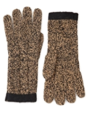 M&S Collection Marl Knitted Gloves with Angora