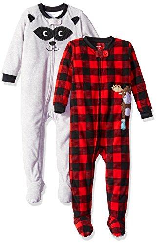 carters-baby-fleece-pajama-set-pack-of-2-grey-red-18-months