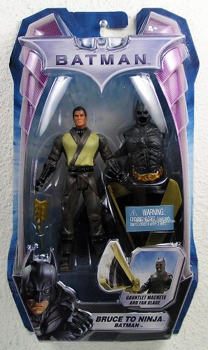 Batman Movie Series The Dark Knight 5-1/2 Inch Tall Action Figure - Bruce to Ninja with Batman Removable Suit, Gauntlet Machete and Fan Blade at Gotham City Store