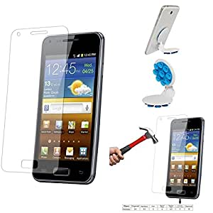 Qualitas Pack of 12 Tempered Glass for SAMSUNG GALAXY S2 I9100 + Octopus Mobile Phone Holder Stand