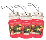 51gG1F5s7kL. SL160  Yankee Candle Paper Car Jar Hanging Air Freshener MacIntosh Scent   3 Pack