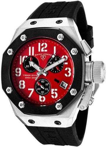 Swiss Legend Men's 10541-05-BB Trimix Diver Collection Chronograph Black Rubber Watch
