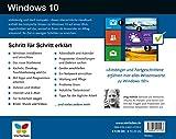 Image de Windows 10: Schritt für Schritt erklärt. Alles auf einen Blick - so nutzen Sie Windows 10 optimal. Im praktischen Querformat. Komplett in Farbe. Fü