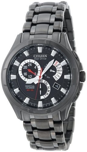Citizen Men's Eco-Drive Calibre 8700 Black Ion-Plated Stainless Steel Watch #BL8097-52E