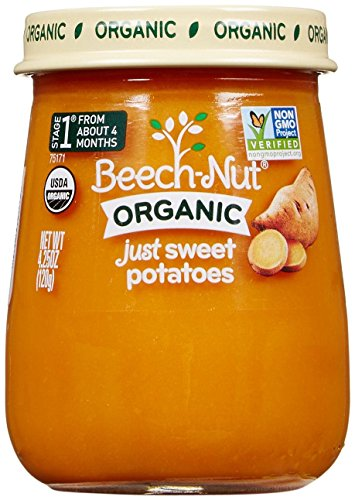 Beech-Nut Just Organic Stage 1 Purees - Just Sweet Potatoes - 4.25 Oz - 10 pk (Baby Food Sweet Potato compare prices)
