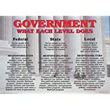 Amercan Government: Federal Court System, Classroom Poster