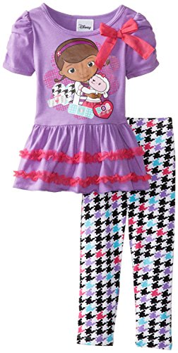 Disney Little Girls 2 Piece Doc Mcstuffins Fleece Legging Set