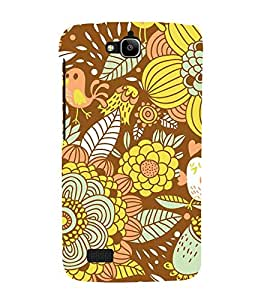 Floral Fruits 3D Hard Polycarbonate Designer Back Case Cover for Huawei Honor Holly :: Honor Holly