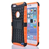Nancy's Shop Iphone 6 Plus 5.5 Inch [Kickstand] Case,deego New Release [Heavy Duty] Combo Armor Defender [Dual Layer] Grip Case with Prime [Kickstand] for Apple Iphone 6 Plus 5.5'' Screen Smartphone(at&t, Verizon, T-mobile, Sprint,) - (Nancy's Shop Kickstand Case -Orange)