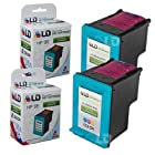 LD © Remanufactured Replacement Ink Cartridges for Hewlett Packard C8766WN (HP 95) Tri-Color (2 Pack)
