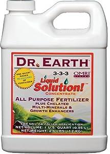 Dr. Earth 752 Liquid Solution Fertilizer, 32-Ounce