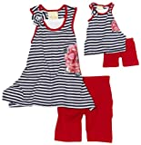 Dollie & Me Girls 2-6x Asymmetrical Tank With Bike Short