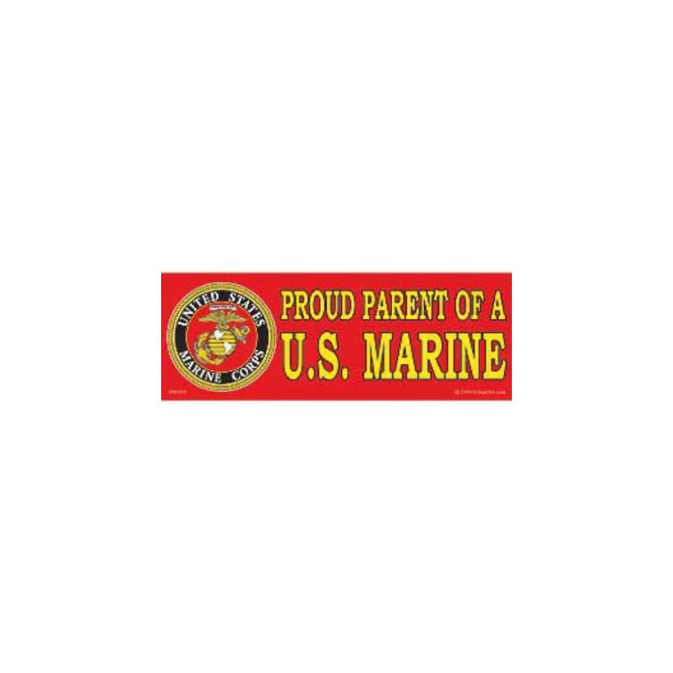 Proud Parent of A U.S. Marine Bumper Sticker 3 1/4X9