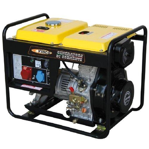 Generatore di Corrente Diesel VINCO DG5500E Potenza 5 KW Avviamento Elettrico