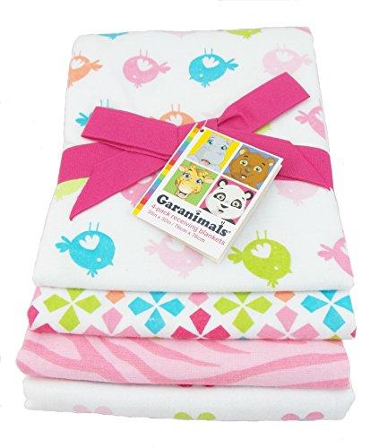Garanimals 4-Pack Cotton Receiving Blankets, Pink