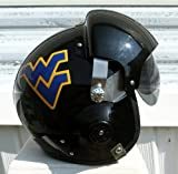 West Virginia Mountaineers Fighter Pilot Helmet - WVU (Black Pro Combat) Football Military Air Force Motorcycle at Amazon.com