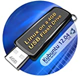 Kubuntu 12.04 on 4gb USB Stick Flash Drive, plus CD and Quick-Reference Guide