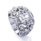 $:Sale Platinum Plated Sterling Silver Wedding & Engagement Ring Unique Celti... review