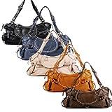 BACCINI gran cartera GISELE – piel genuina – bolso de hombro & estilo tote-bag (47 x 24 x 11 cm)