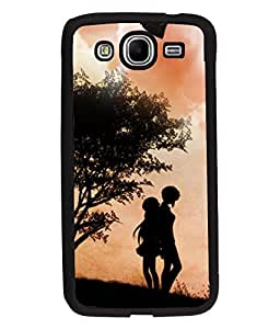 Fuson Love Couple with Birds Back Case Cover for SAMSUNG GALAXY MEGA 5.8 - D4019