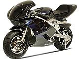 MotoTec 36V Electric Pocket Bike - Black