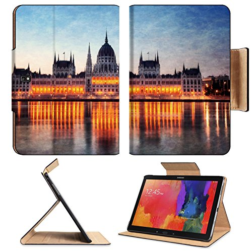 Hungary Budapest Parliament Building At Night Samsung Note Pro 12.2 Flip Case Stand Smart Magnetic Cover Open Ports Customized Made To Order Support Ready Premium Deluxe Pu Leather Liil Professional Graphic Background Covers Designed Model Folio Sleeve Hd front-219377