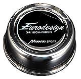 マナレイスポーツ(MANARAY SPORT) タイヤホイール  ユーロデザイン クロスフォーハイライダーセンターキャップ ステンレスクローム       全高40mm   LOW-TYPE 0PM00