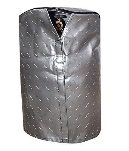 ADCO 2711 Silver Single 20 Diamond Plated Steel Vinyl Propane Tank Cover (Rv Propane Cover Single compare prices)